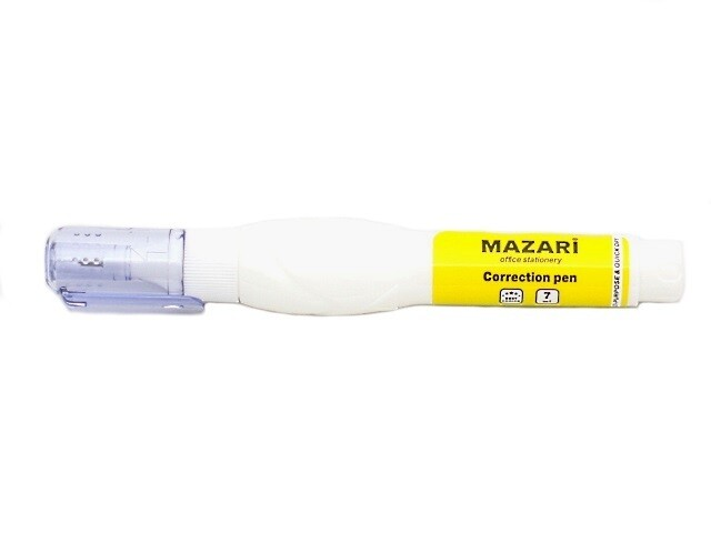 """Корректор-ручка 7мл MAZARI """"Izumy"""" метал.наконечник M-4102"""