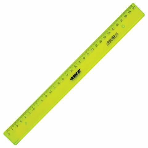 Линейка пластиковая 30 см LACO прозрачная LN 30 210443 зеленая