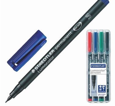 Набор перманентных маркеров 4шт 0.4мм STAEDTLER