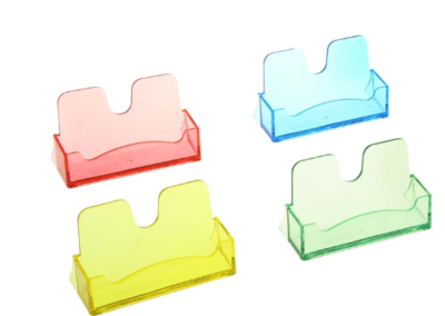 Подставка для визиток настольная СТАММ пластик ВТ05 прозрачная цвет