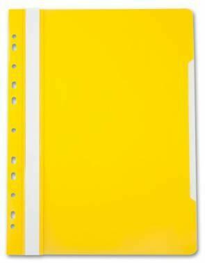 Скоросшиватель с перфорацией А4 BIURFOL пластик плотный, желтый