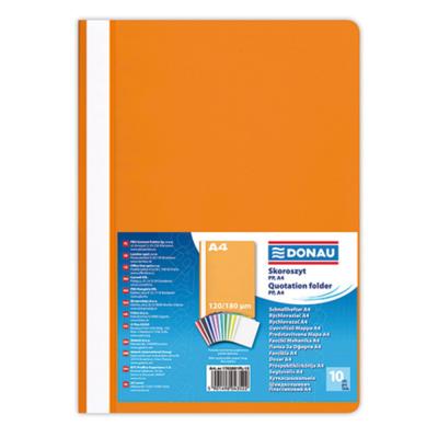 Скоросшиватель А4 DONAU пластик мягкий 1702001PL-12 оранжевый