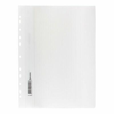 Скоросшиватель с перфорацией А4 BIURFOL пластик плотный, белый