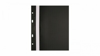 Скоросшиватель с перфорацией А4 BIURFOL пластик плотный, черный