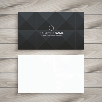 Односторонние визитки черно-белые