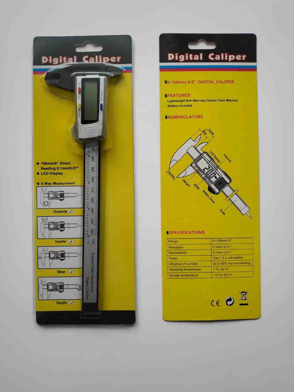 Штангенциркуль цифровой карбоновый (немагнитный)
