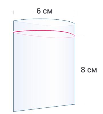 Пакет зип Zip-Lock 6x8 см (100шт)