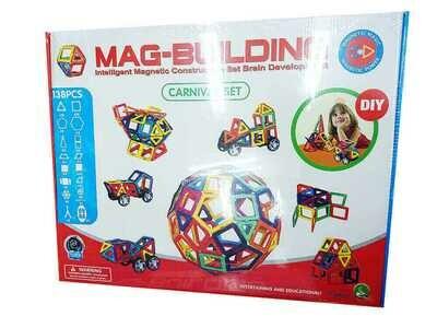 Магнитный конструктор Mag-Building, 138 деталей