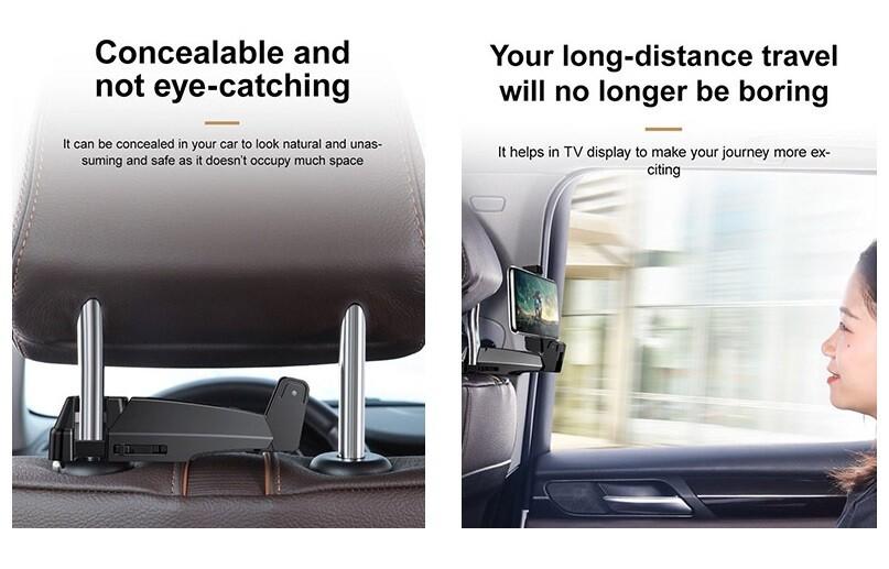 Автомобильный держатель для телефона + вешалка Baseus Back Seat Hook Mount Mobile Holder (SUHZ)
