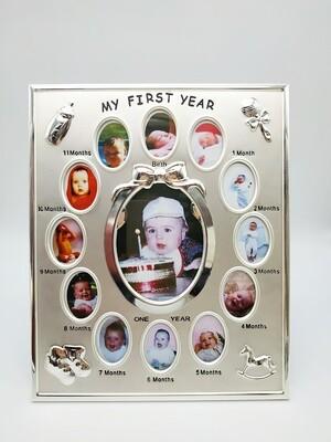 Фоторамка детские первые месяцы 13 фото