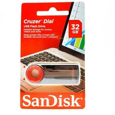 Флеш-накопитель SanDisk Cruzer Dial 32GB CZ57-016G-B35 USB 2.0 черный/красный