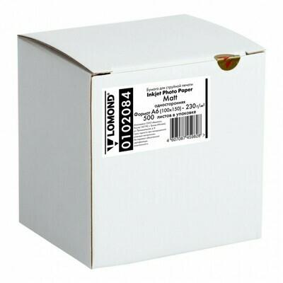 Матовая односторонняя фотобумага, 230 г/м2, 10х15, 500 листов Lomond 0102084