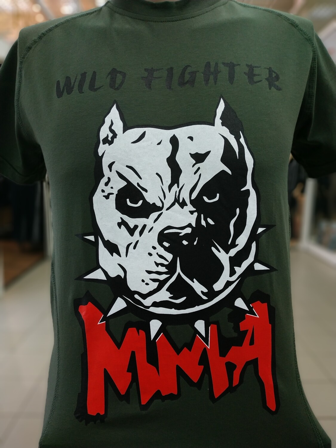 Футболка MMA WILD FIGHTER зелёная