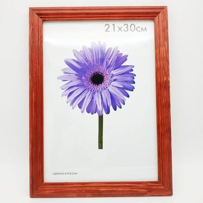 Рамка Inspire  21х30 см дерево цвет бордо