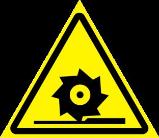 Наклейка Осторожно, режущие валы