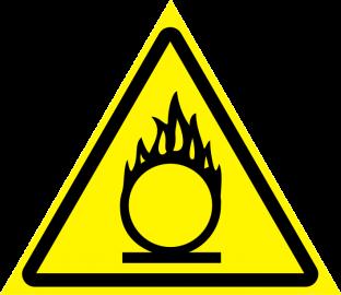 Наклейка Пожароопасно, окислитель
