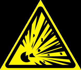 Наклейка Взрывоопасно