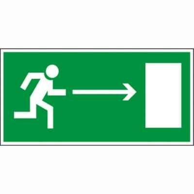Наклейка Направление к эвакуационному выходу