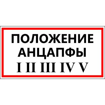 Наклейка Положение анцапфы