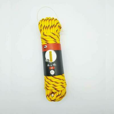 Веревка (Шнур) Standers 6 мм 15 м, на 100кг., полипропилен, цвет мультиколор