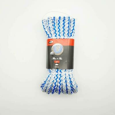 Веревка (Шнур) хозяйственно-бытовой Standers с сердечником 10 мм, 10 м, на 370 кг., цвет белый/синий
