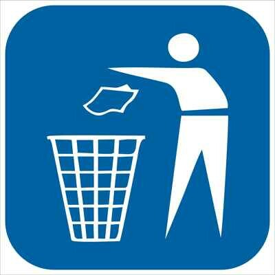 Наклейка Выбрасывать мусор здесь