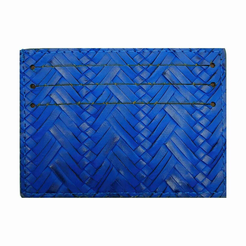 Визитница-кармашек синяя