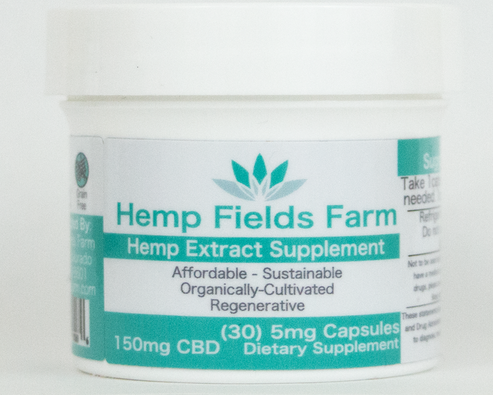 150mg Full-Spectrum CBD-Rich Capsules