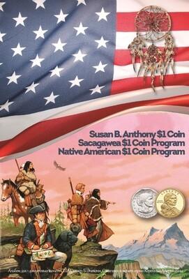 Капсульный альбом для монет серии «Коренные Американцы» и Золотой доллар Сакагавеи