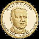 США 1 доллар, 2014 год. 31-й президент Герберт Гувер.