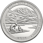 США 25 центов, 2014г. 24-й национальный парк Грейт-Санд-Дьюнс