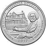 США 25 центов, 2017г. 37-й Национальное историческое место Фредерика Дугласа