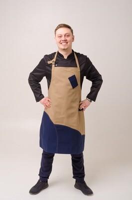 Фартук Тмин (Cumin), Navy Blue, Chef Star