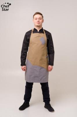 Фартук Тмин (Cumin), Gray, Chef Star