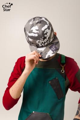 Снэпбэк (Snapback), Gray Camouflage, Chef Star