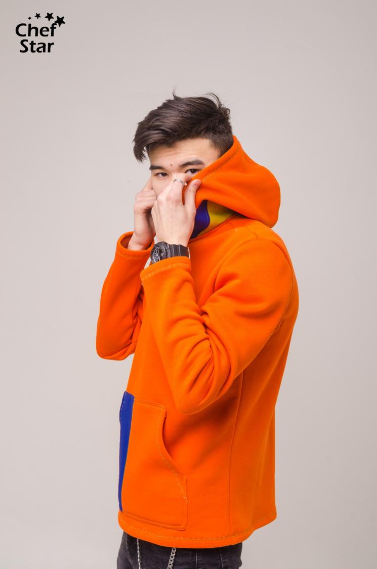 Chef Star Rainbow Hoodie, Orange-Blue