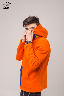 Chef Star Rainbow Hoodie, Orange-Blue