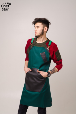 Фартук Cellini (Челлини), Bottle Green, Chef Star