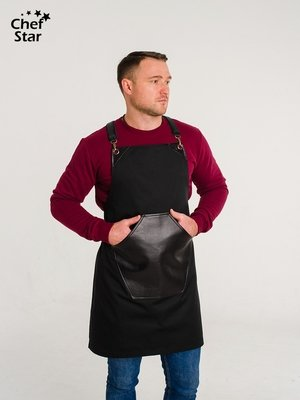 Фартук Ramazzotti (Рамазотти), Black, Chef Star