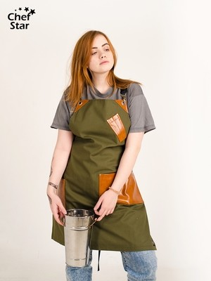 Фартук Tequila (Текила), Khaki/Ginger, Chef Star
