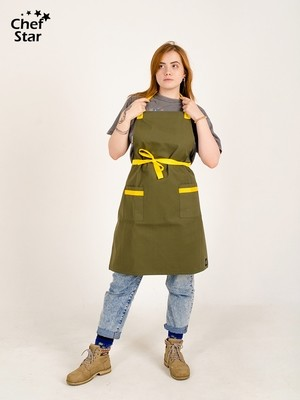 Фартук Cardamom (Кардамон), Khaki/Yellow, Chef Star