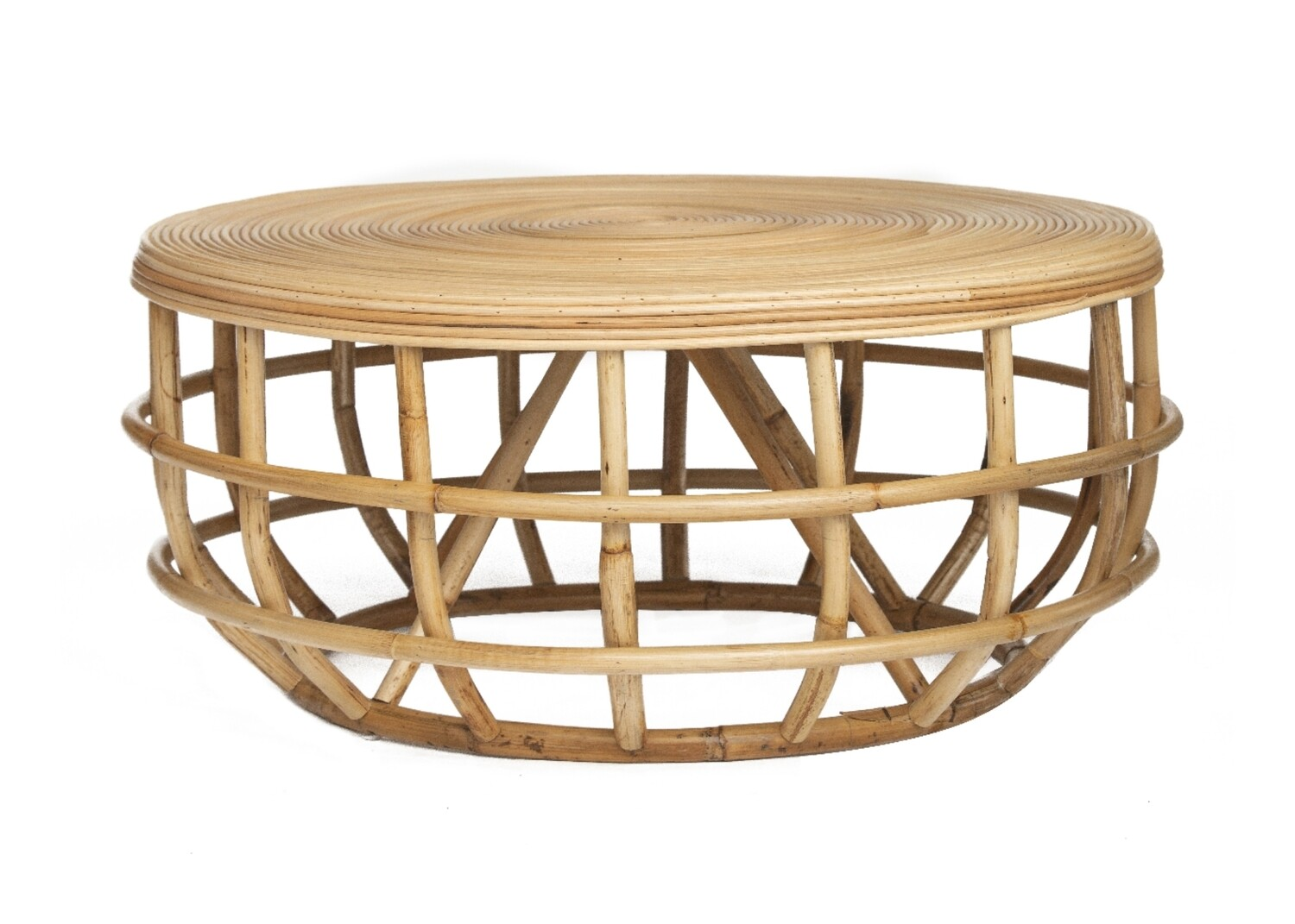 - Round Rattan Coffee Table
