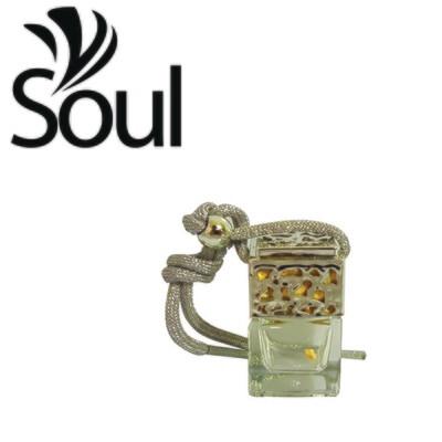 6ml - Car Perfume Bottle Square Cap Silver