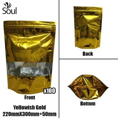Triangle - Aluminium Side Seal Bag - Half - YG - 220x300+50