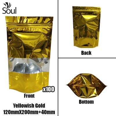 Triangle - Aluminium Side Seal Bag - Half - YG - 120x200+40