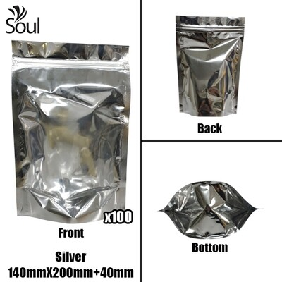 Triangle - Aluminium Side Seal Bag - Full - S - 160x240+40