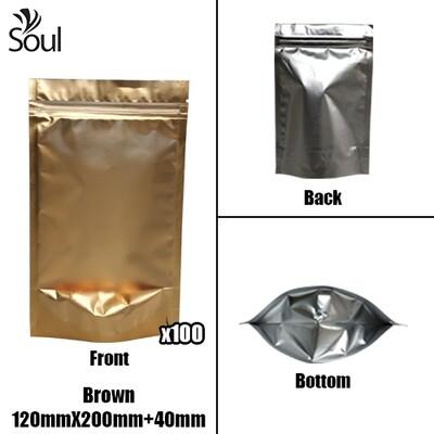 Triangle - Aluminium Side Seal Bag - Full - B- 120x200+40