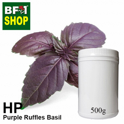Herbal Powder - Basil - Purple Ruffles Basil Herbal Powder - 500g
