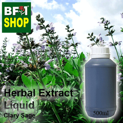 Herbal Extract Liquid - Clary Sage Herbal Water - 500ml