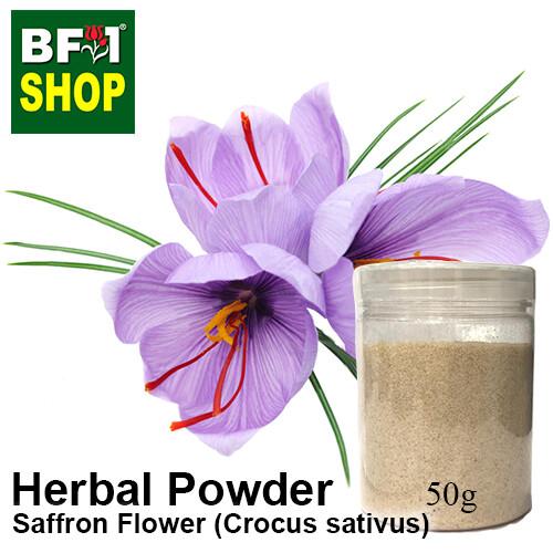Herbal Powder - Saffron Flower (Crocus sativus) Herbal Powder - 50g